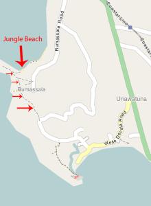 Trampelpfad Jungle Beach